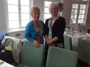Ann and Mary (and Heather in the background) at the 2014 Portmeirion lunch