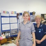 Christine O'Connor Travel Award winner 2011 at Nurses Day with a student nurse